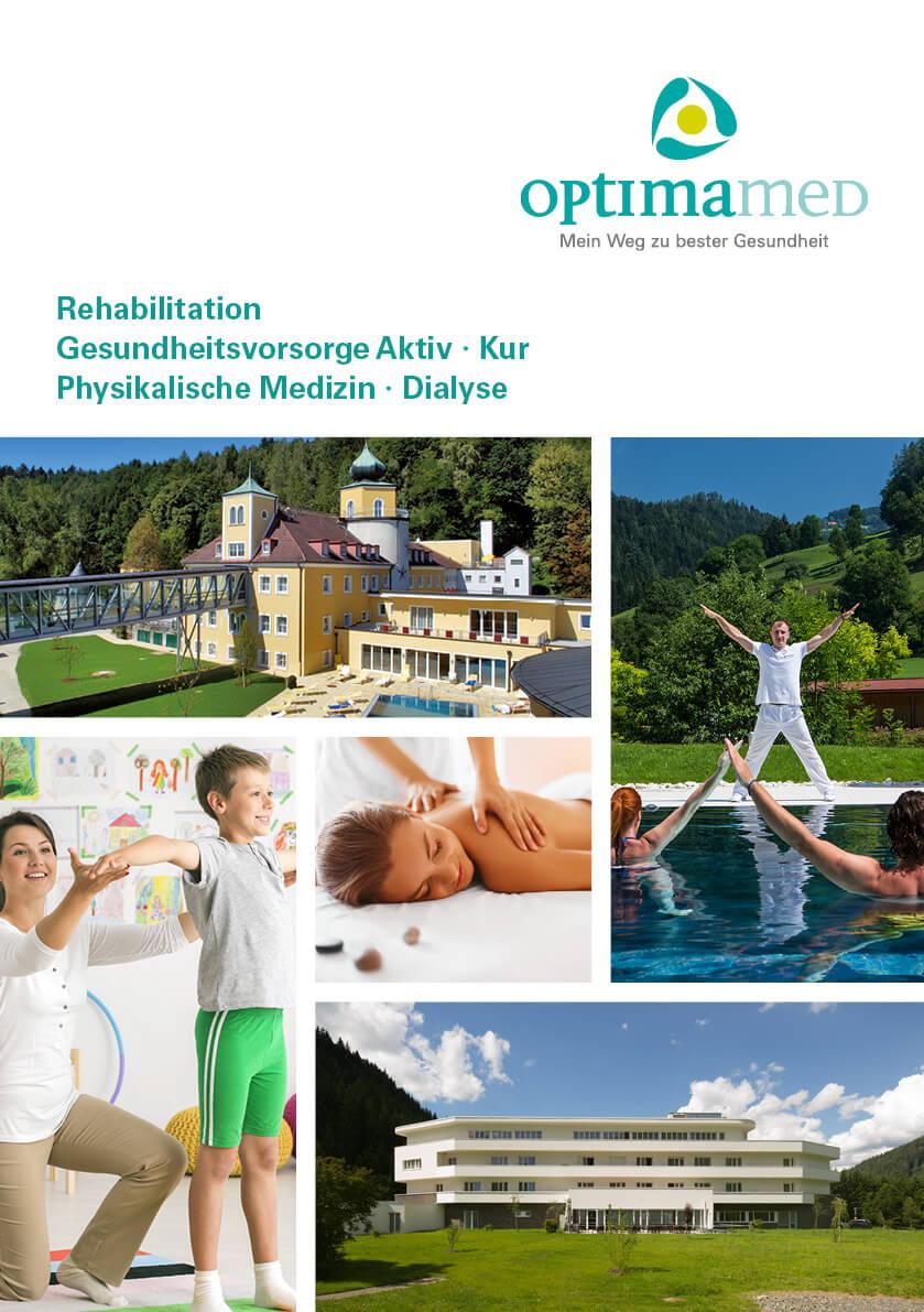 OptimaMed Imagefolder für Kuren, Physikalische Medizin und Dialyse